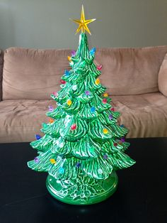 Large Ceramic Christmas Tree by JacolinisCeramics on Etsy