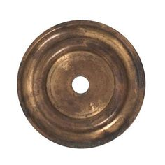 Classic Hardware Brass Cabinet Knob Round Backplate