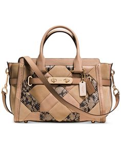 Coach Coach Swagger 27 In Patchwork Exotic Embossed Leather