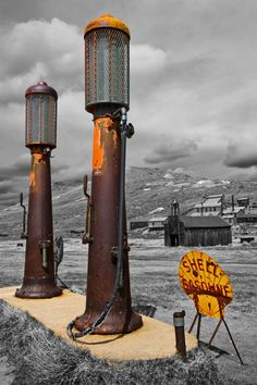 Ghost town of Bodie, CA...Shell Gas Pumps     WOW!!!! GRAVITY PUMPS THIS IS TRUE AMAERICANA AT HER BEST...