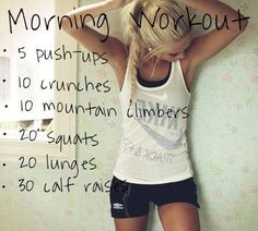 Short Little Mini Workouts You Can Do At Home Or At The Gym