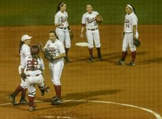 No. 4 Alabama softball run rules Arkansas to win seventh straight. TUSCALOOSA, Alabama -- The formula didn't change.  Slap around 13 hits and let Jaclyn Traina do her thing. Alabama followed that again Friday night to extend the winning streak, 8-0 over Arkansas in six innings.