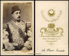 Photo of Murad V the Ottoman Sultan. Taken by an Armenian photograher. Date unknown. Sultan Murad, The 33, Ottoman Empire, The Past, History, Antiques, Artwork, Exploring, Porn