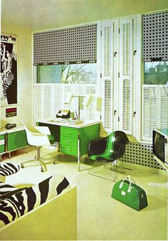theswingingsixties: 1960s interior design.