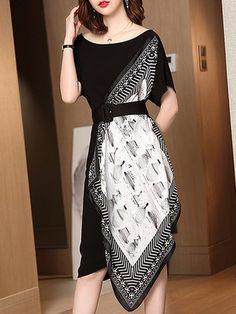 Buy Sundress Elegant Dresses For Women from 788 at Stylewe. Elegant Dresses For Women, Stylish Dresses, Fashion Dresses, Midi Dresses, Dance Dresses, Model Dress Batik, Batik Dress, Batik Fashion, Look Fashion