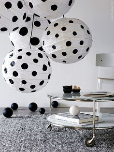 Lady Linda Black - DIY, ideas, inspirations, design, beautiful things,: White with black polka dots