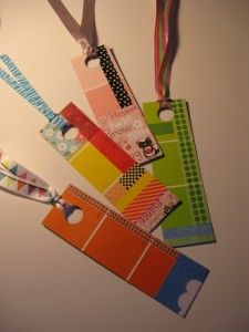 Paint Chip Bookmark DIY-- Completely FREE project!