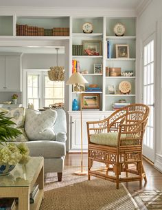 When I first saw a sneak peek of Dallas interior designer Morgan Hunt's Dallas home, it stopped me in my tracks. Coastal Living Rooms, Home Living Room, Living Room Decor, Living Spaces, Interior Decorating, Interior Design, Decorating Ideas, Decor Ideas, Living Room Remodel
