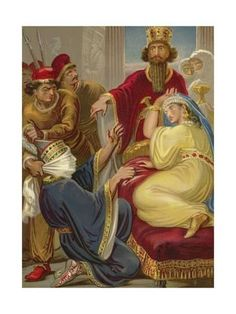Giclee Print: Haman Asking His Life of Queen Esther : Queen Esther Bible, Ancient Persia, History Images, Digital Image, Find Art, Framed Artwork, Giclee Print, Sassanid, Royal Queen