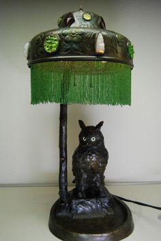 https://www.ebay.com/itm/ANTIQUE-AUSTRIAN-BRONZE-ART-NOUVEAU-DECO-OWL-GLASS-JEWELED-ARTS-AND-CRAFTS-LAMP/221690824442?ssPageName=STRK%3AMEBIDX%3AIT&_trksid=p2055119.m1438.l2649