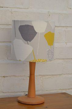 Lampshade grey lampshade retro lamp lighting by ShadowbrightLamps