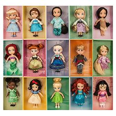 DISNEY+ANIMATORS++COLLECTION+MINI+DOLL+GIFT+SET-+15+MINI+DOLLS+~+5++SIZE+~+NIB