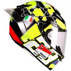 Andrea Iannone 'Crazy Joe' is one colorful guy...on and off the circuit! http://www.firecrestmoto.co.uk/motorcycle-brands/agv-helmets/agv-pista-gpr.html