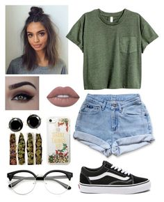 """""""Untitled #421"""" by kawaiiedgy312 on Polyvore featuring Vans, Levi's, Lime Crime and Kate Spade"""