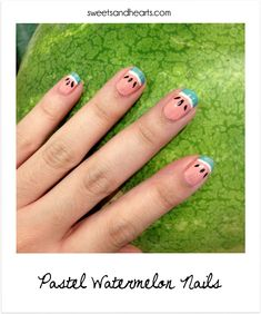 Polish Post: Pastel Watermelon Nails