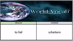 to fail - scheitern German Vocabulary Builder Word Of The Day #239 ! Full audio practice at World Vocab™! https://video.buffer.com/v/583e3aa9ec16f4961a9a3532