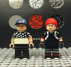 tyler and josh as lego characters |-/ twenty one pilots merchandise