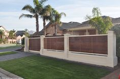 front yard fence ideas | ... Timber slats as infill to provide privacy fence for a front yard