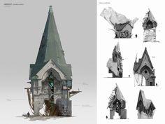 Environment Sketch, Environment Design, Building Concept, Building Design, Form Architecture, Legend Of King, Pirate Art, Fantasy Landscape, Victorian Era