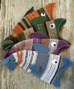 Ravelry: Selkie's Living Fishie Hats Cute as part of a fishing gift!