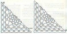 Crinochet: All about Crochet Vests - Filet Crochet, Crochet Diagram, Crochet Chart, Crochet Stitches, Crochet Motif Patterns, Crochet Blocks, Crochet Squares, Crochet Granny, Crochet Box