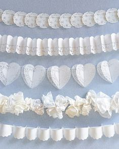 Wedding diy lace paper doilies Ideas for 2019 Diy Lace Paper, Paper Lace Doilies, Doily Art, Doily Wedding, Garland Wedding, Wedding Decorations, Wedding Ceremony, Wedding Ideas, Wedding Vintage