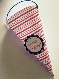 """""""Sweet Tooth"""" Candy Cone for dental graduation party"""