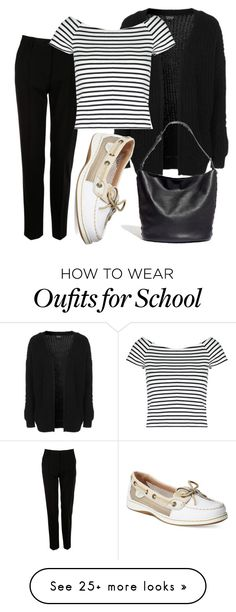 """""""Back to school"""" by nmdejager on Polyvore featuring Topshop, Dolce&Gabbana, Lipsy, Sperry and Madewell"""
