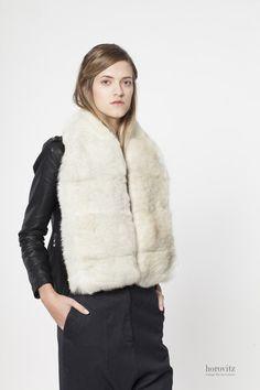 creamy-white rabbit scarf – horovitz