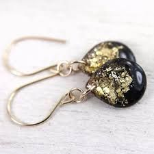 Image result for black and gold resin jewellery