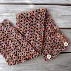 Crochet this light and airy wrap and wear it as a cowl, small shawl, wrap, or mini scarf.  Pretty buttons keep it in place too. thanks so xox