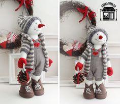 me ~ Lyubov Maslova Christmas Gnome, Christmas Sewing, Christmas Projects, Handmade Christmas, Christmas Stockings, Christmas 2017, Snowman Crafts, Christmas Crafts, Christmas Ornaments