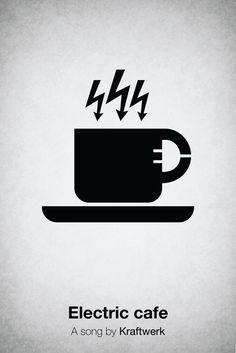 Electric Cafè - Kraftwerk. Pictogram Music Posters by Viktor Hertz