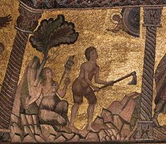 Gaddo Gaddi (attr. a) - Storie della genesi: lavoro dei progenitori - 1250-1330 ca - Mosaici - Battistero di Firenze