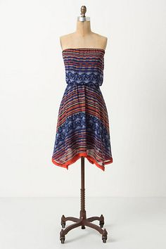 Colorful, lightweight... Perfect summer or outdoor wedding guest dress. Anthropologie