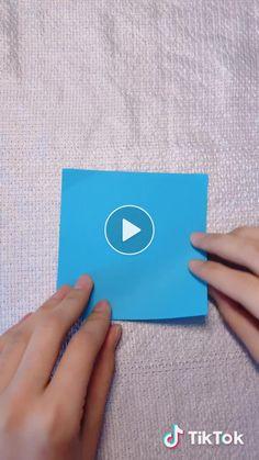 手艺人橙子's short video with ♬ original sound - handmakerorange Paper Crafts For Kids, Diy Arts And Crafts, Diy Crafts Videos, Diy Paper, Flower Crafts, Diy Flowers, Felt Flowers, Fabric Flowers, Blue Flowers
