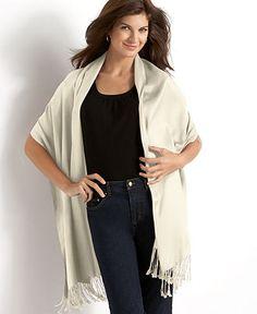 Jones New York Wrap, Satin Pashmina - Handbags & Accessories - Macy's