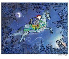 Sharon Vargo. I really like a winter scene that she illustrated - has little pops of colour. SCBWI   Illustrator Detail