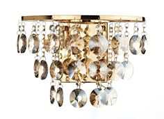 Jester 2 Light Wall Light in Antique Gold Antique Gold Finish with amber smoked crystal glass decoration Double Insulated Switched with rocker switch 2 x Lamps included Height Width Depth Luxury Lighting, Interior Lighting, Home Lighting, Modern Lighting, Dar Lighting, Crystal Ceiling Light, Crystal Wall, Crystal Decor, Lighting Bugs