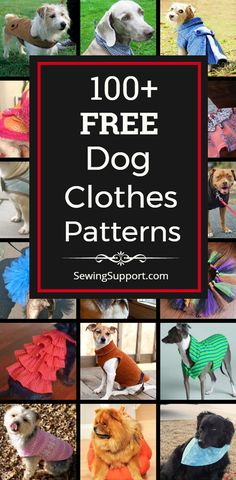 Lots of free dog clothes sewing patterns. Sew dog t-shirts, dresses, coats, and more, for large and small dogs. How to make dog clothes. Dog Sweater Pattern, Dog Pattern, Dog Coat Pattern Sewing, Sewing Patterns Free Dog, Dog Pitbull, Clothing Patterns, Baby Clothes Patterns, Diy Pet, Large Dog Sweaters
