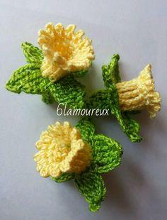3 YELLOW Handmade Crochet Cotton Flowers APPLIQUE EMBELLISHMENT Card Craft   eBay