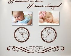 Time of Birth Clock - Wall Sticker