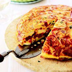chorizo spanish tortilla. make ahead for brunch.