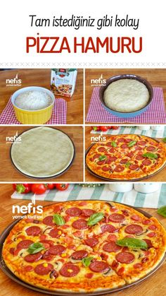 Kolay Pizza Hamuru – Nefis Yemek Tarifleri How to make Easy Pizza Dough Recipe? Illustrated explanation of the Easy Pizza Dough Recipe in the book of people and photographs of those who try it are here. Fun Easy Recipes, Easy Meals, Yummy Recipes, Homemade Mexican Pizza Recipe, Pizza Recipes, Cooking Recipes, Nutella Fudge, Easy Pizza Dough, Vegetarian Pizza