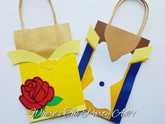 Beauty and The Beast Inspired Favor Bag by WTPAPartyDesigns on Etsy
