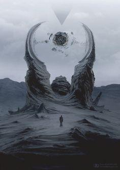 42, Tierno Beauregard on ArtStation at https://www.artstation.com/artwork/42-7a8d4bbf-50c1-4f05-a301-890321ee090a | Sci-fi & Fantasy | Concept Art || Worlds