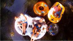 How to Do Florida host Chad Crawford and his family enjoy a calming float – and occasional dive and water-gun fight – on the crystal-clear, 72-degree waters of the Ichetucknee River in west Central Florida, just north of Gainesville and south of Lake City.