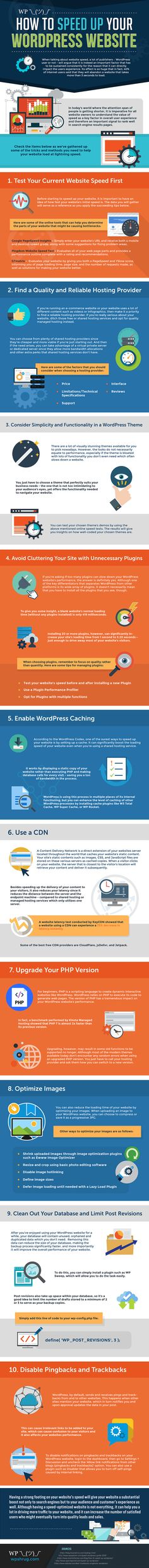Did you know that 40% of internet users said that they will abandon a website that takes more than 3 seconds to load? And worse still, Google is recording that visitors bounce off your site because it's too slow, and will be punishing your website in the search result.   Here are 10 doable steps towards a faster #WordPress website.  None of these steps are too demanding for you to do them during the nest week. And I promise you – it will be well worth the effort!