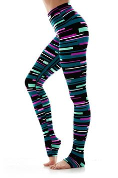 bcd4d5d1a10987 K-DEER Legging in Candice Stripe - YOGA REBEL K Deer Leggings, Funky  Leggings