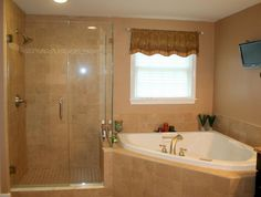 Walk in shower and Jacuzzi in master bath